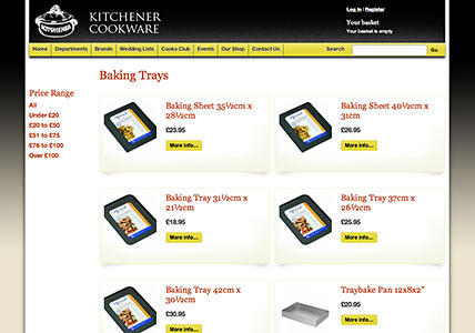 Kitchener Product Overview Page