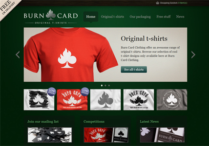 Burn Card Home Page