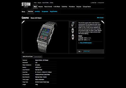 Storm Watches Product Detail Page