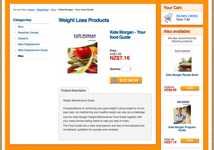 Detail page showing jquery 'add to cart'