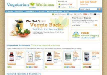 Vegetarian Wellness Home page