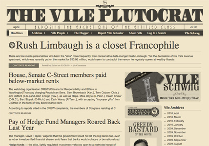 The Vile Plutocrat Homepage
